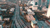 dlažba : MIAMI, FLORIDA, USA - MAY 2019: Aerial drone view flight over Miami downtown. Road viaduct and overpass from above.