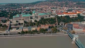 ungarn : BUDAPEST, HUNGARY - MAY, 2019: Aerial drone view of Budapest city historical centre with beautiful architecture.