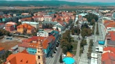 beautiful building : Aerial view of slovak town Zvolen during a city holiday