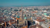 viena : VIENNA, AUSTRIA - JUNE, 2019: City skyline aerial shot. Cathedrals and cityscape. Significant tourist sites from above