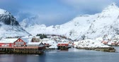 나는 : A village on Lofoten Islands, Norway timelapse 무비클립