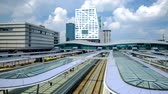 Timelapse of Utrecht modern bus and railway station Utrecht Centraal, Netherlands