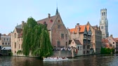 bell tower : Famous view of Bruges, Belgium