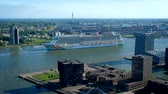 navios : View of Rotterdam city Stock Footage