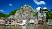 ベルギー : View of Dinant town, Belgium