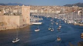 regata : Yachts coming to Marseille Old Port on sunset. Marseille, France