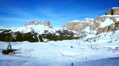 on piste : Ski resort in Dolomites, Italy