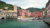 Vernazza village, Cinque Terre, Liguria, Italy Stok Video