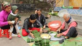 kaka : asian People make rice cakes in new yaer on January, 29, 2014 in Asian