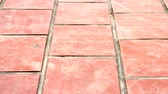 patio : yard by brick Stock Footage
