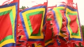 lehçe : flag in traditional festivals, asia Stok Video
