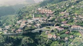 madeira : Aerial View of the Typical Town in Mountains, Madeira Portugal
