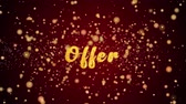 Offer Greeting Card text with sparkling particles shiny background for Celebration,wishes,Events,Message,Holidays,Festival.