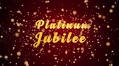 jubileu : Platinum Jubilee Greeting Card text with sparkling particles shiny background for Celebration,wishes,Events,Message,Holidays,Festival. Vídeos
