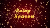 cortina : Rainy Season Greeting Card text with sparkling particles shiny background for Celebration,wishes,Events,Message,Holidays,Festival.