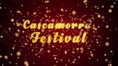 Cascamorras Festival Greeting Card text with sparkling particles shiny background for Celebration,wishes,Events,Message,Holidays,Festival.