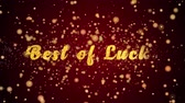 pohlednice : Best of Luck Greeting Card text with sparkling particles shiny background for Celebration,wishes,Events,Message,Holidays,Festival.