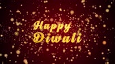 Happy Diwali Greeting Card text with sparkling particles shiny background for Celebration,wishes,Events,Message,Holidays,Festival.