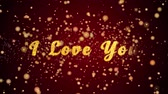 I Love You Greeting Card text with sparkling particles shiny background for Celebration,wishes,Events,Message,Holidays,Festival.
