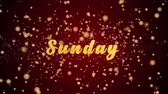 Sunday Greeting Card text with sparkling particles shiny background for Celebration,wishes,Events,Message,Holidays,Festival.
