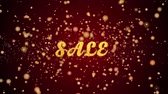 Sale Greeting Card text with sparkling particles shiny background for Celebration,wishes,Events,Message,Holidays,Festival.