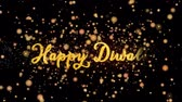 Happy Diwali Abstract particles and fireworks greeting card text with shiny black background for festivals,events,holidays,party,celebration.
