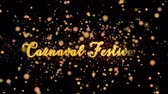 Carnaval Festival Abstract particles and fireworks greeting card text with shiny black background for festivals,events,holidays,party,celebration.