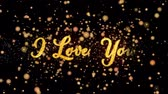 fede nuziale : I Love You Abstract particles and glitter fireworks greeting card text