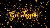 reunir : Get Together Abstract particles and glitter fireworks greeting card