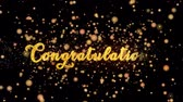 gratulálok : Congratulations Abstract particles and glitter fireworks greeting card