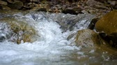 mountain river close up slow motion