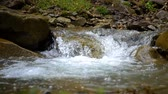 mountain river slow motion Stock Footage