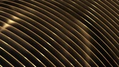 Golden moving 3d lines seamless loop background