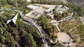 view of the holocaust memorial museum in Jerusalem top view of a quadcopter. Yad Vashem on the hillside on the outskirts of Jerusalem. Videos