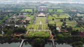 forbidden city : Aerial view of Vietnam ancient Tu Duc royal tomb and Gardens Of Tu Duc Emperor near Hue, Vietnam.