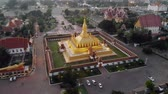Pha That Luang, Great Stupa is a gold-covered large Buddhist stupa in the centre of Vientiane, Laos. It is generally regarded as the most important national monument in Laos 動画素材