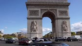triunfar : Car traffic on Place de lEtoile, Arc de Triomphe