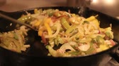 nutritious : stir fried vegetables in the pan