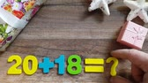 Mathematical operations with the number 2018 with a question mark. The concept for the new year. Vídeos