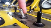 press up : include the old toggle switch on the control panel Stock Footage