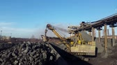 pit mine : Loading the ore into heavy dump truck at the opencast mining