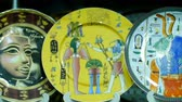 arabesco : Egyptian souvenirs plates in the shop
