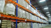aveia : large grain warehouse packaged in bags.