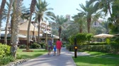souk : DUBAI, UNITED ARAB EMIRATES, UAE - NOVEMBER 20, 2017: Hotel Jumeirah Al Qasr Madinat , walk along the beach zone, throught the territory of the hotel