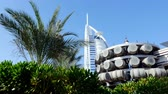 architectural : DUBAI, UNITED ARAB EMIRATES, UAE - NOVEMBER 20, 2017: View of luxury 5 stars JUMEIRAH BEACH HOTEL , near Burj al Arab.