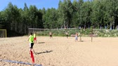 voleibol : people playing beach volleyball