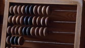 movable : Old wooden abacus.