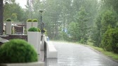drench : On the street it is raining Stock Footage