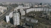 belarus : Aerial : Drone shooting of the landscape in Minsk city Belarus