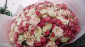 роскошный : A huge bouquet of white and pink roses